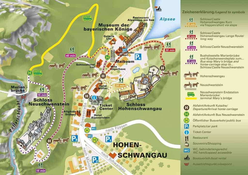 Neuschwanstein Castle Map