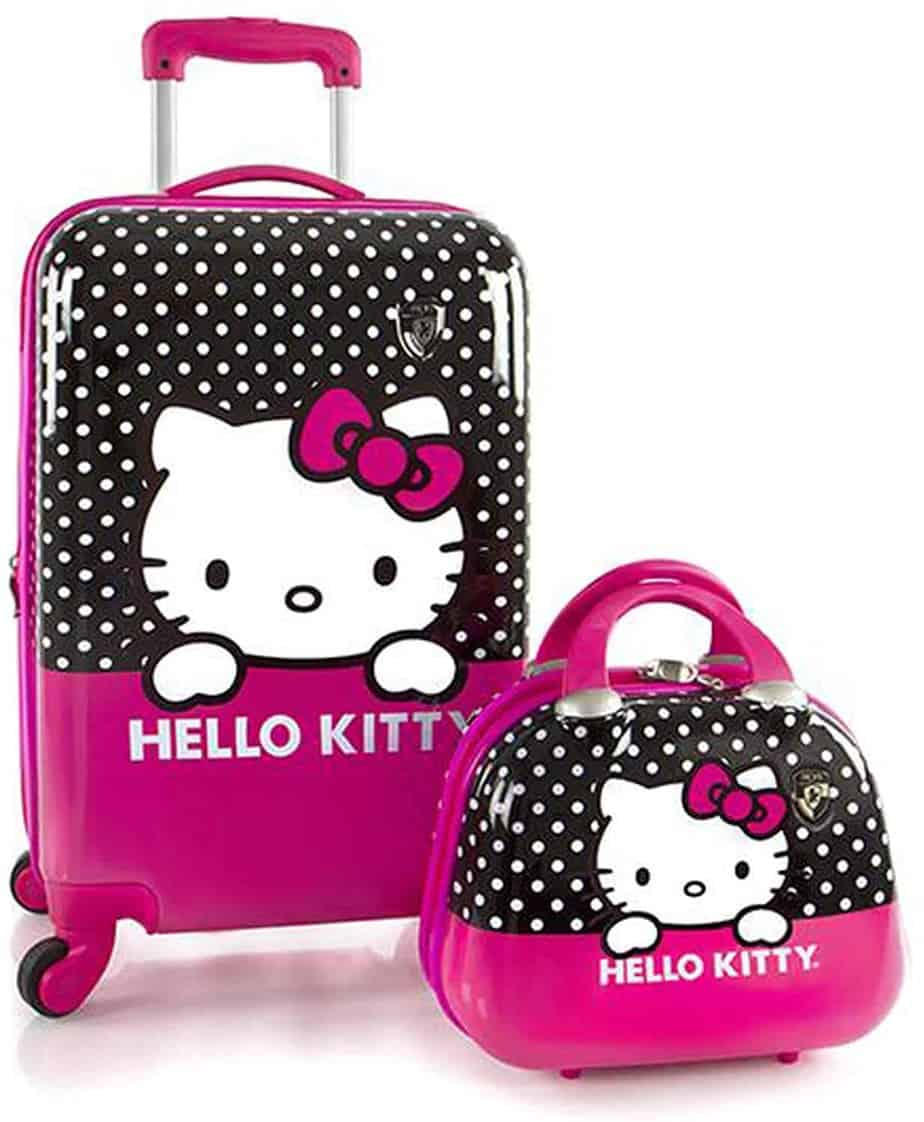 Hey's America Hello Kitty 21-Inch Spinner Luggage and Beauty Case Pink