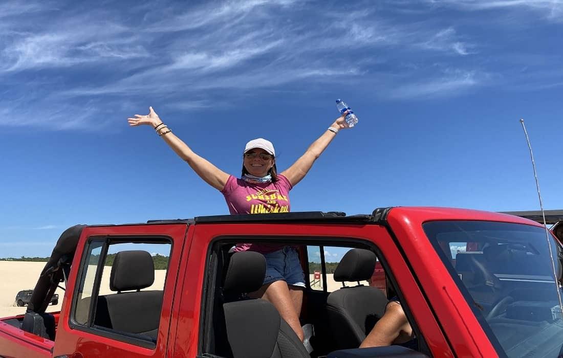 silver lake sand dunes jeep