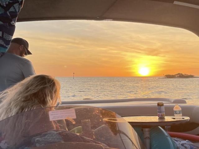 Hernando Beach Flats Sun Setting