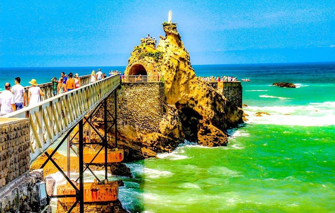 Rock Of The Virgin Biarritz France