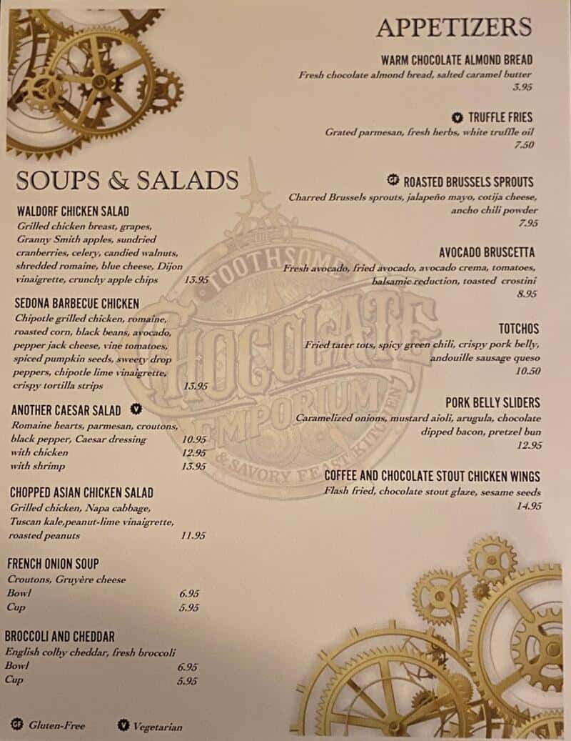 toothsome chocolate emporium menu salads